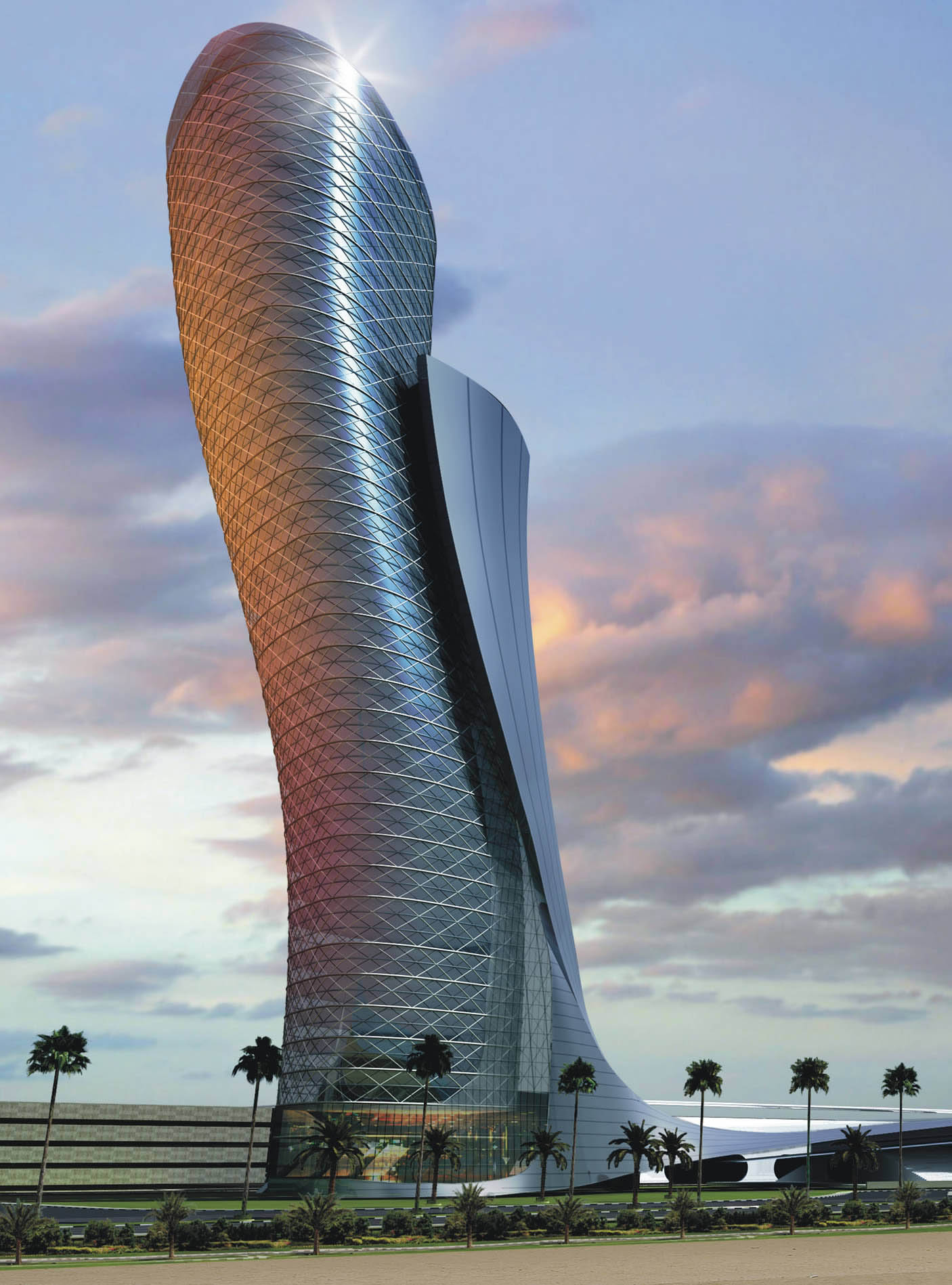 tower, structure, architect, design, modern, luxury, Capital Gate Rising