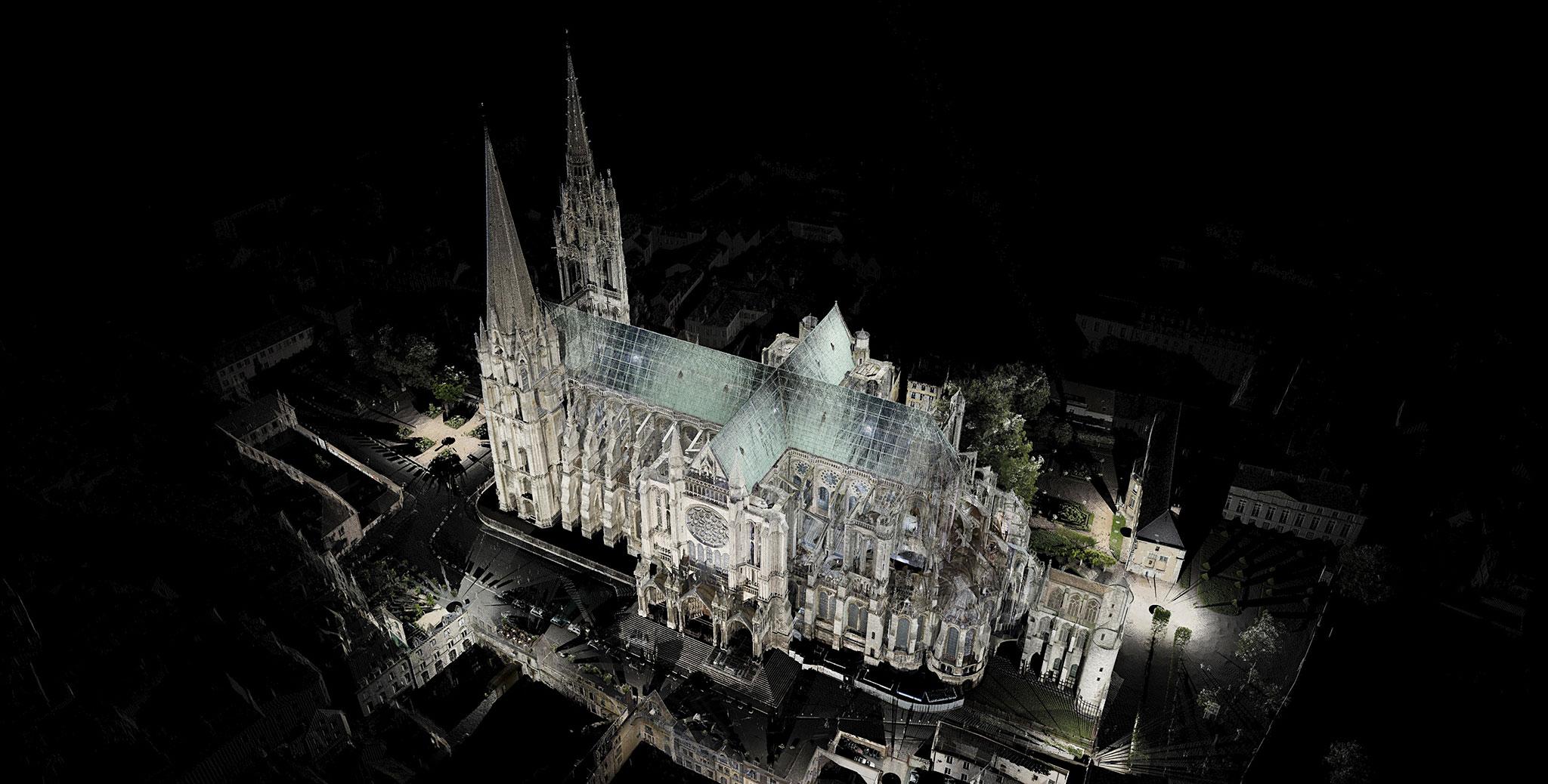 computer rendering of Notre Dame